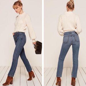 Reformation | Winona Mid Slim Button Fly Jean